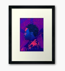 Gambino Neon Lights Framed Print