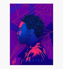 Gambino Neon Lights Photographic Print