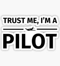Pegatina Confía en mí, que soy un piloto
