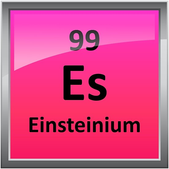 Einsteinium Periodic Table Element Symbol Posters By Sciencenotes