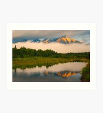 Teton Mountains from Schwabacher Landing Art Print