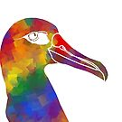 Rainbow Albatross Face by moietymouse