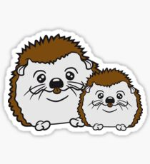 couple couple love woman girl girl sexy in love suit fly grin clasp nerd geek sly intelligent freak funny teenager horn goggles hedgehog Sticker