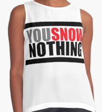 You Snow Nothing Contrast Tank