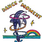 Dance in the Moment - Cute Whimsical Dolphin Watercolor Illustration by mellierosetest