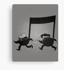 Chase scene music. Canvas Print