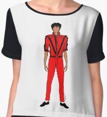 Thriller Red Jackson Chiffon Top