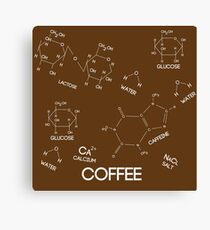 Coffee Chemicals Canvas Print