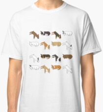 Lazy Bull Terrier - White Classic T-Shirt