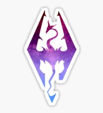 Skyrim Logo - Purple gradient Sticker