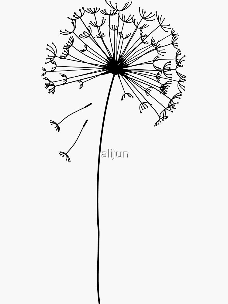 Floral pattern of dandelions by alijun