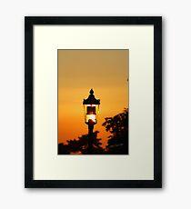 Streetlight Sunset Framed Print