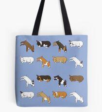 Lazy Bull Terrier - Blue Tote Bag