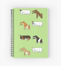 Lazy Bull Terrier - Green Spiral Notebook