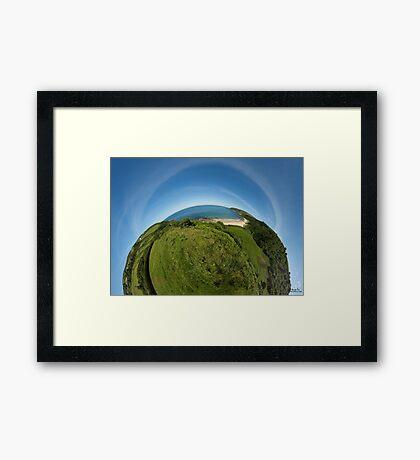 Kinnagoe Bay (as half a planet :-) Framed Print