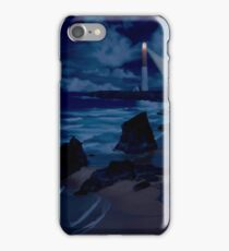 Lighthouse at Night iPhone Case/Skin