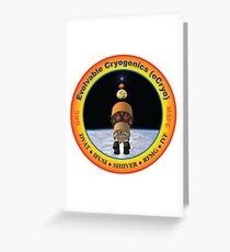 Evolvable Cryogenics Project (eCRYO) Logo Greeting Card