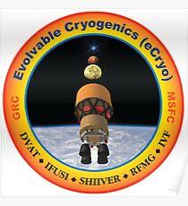 Evolvable Cryogenics Project (eCRYO) Logo Poster