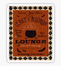 Halloween Lounge Graphic Art Sticker