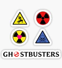 Proton Pack's 4 Stickers - Ghostbusters Sticker