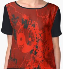 Organic Religion (red) by Cal-and-Ra Women's Chiffon Top