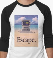 Vaporwave Macintosh Men's Baseball ¾ T-Shirt
