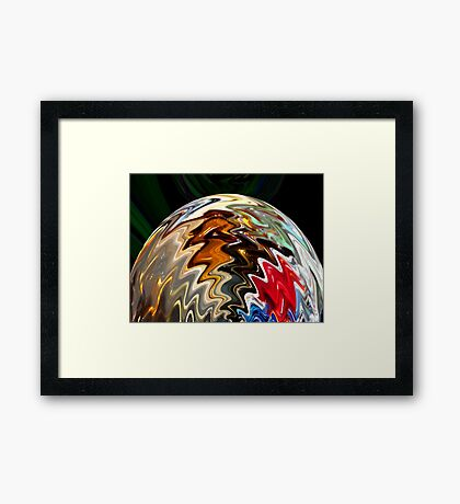 Glass Moon Rising Framed Print