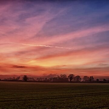Countryside Sunset Skies by InspiraImage