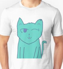 Space-Cat Winking T-Shirt