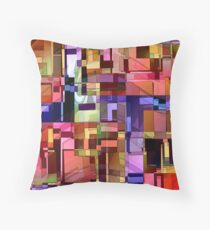 Artificial Boundaries Throw Pillow