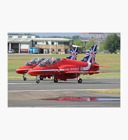 2 Reds Rolling - Farnborough 2014 Photographic Print