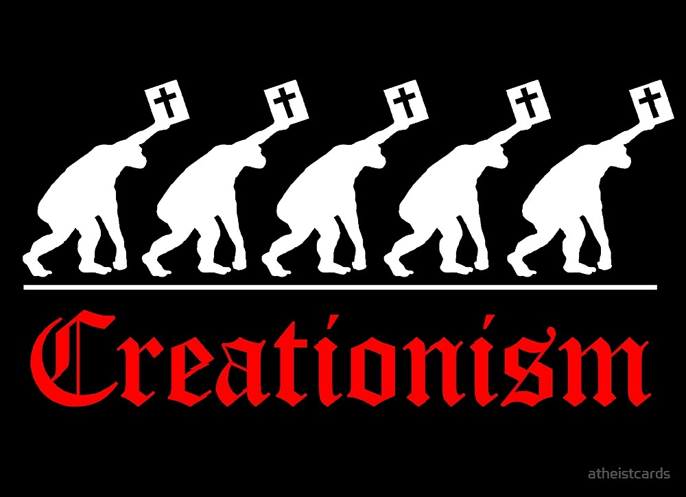 CHRISTIAN EVOLUTION by atheistcards