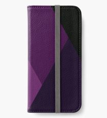 Geo Overlay -Purple/Black iPhone Wallet/Case/Skin