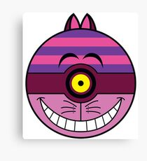Cheshire Cat Pokemon Ball Mash-up Canvas Print