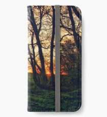 English Countryside Sunset HDR  iPhone Wallet/Case/Skin