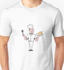 Chef Cook Roast Chicken Spatula Cartoon Unisex T-Shirt