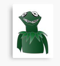 Creepy Kermit Canvas Print