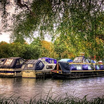 Moored Up boats HDR by InspiraImage