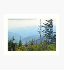 The Great Smoky Mountains, North Carolina. Art Print