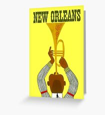 """NEW ORLEANS"" Vintage Mardi Gras Print Greeting Card"