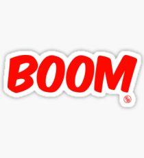 Boom (red) Sticker