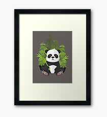 High panda Framed Print
