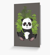 High panda Greeting Card