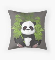 High panda Throw Pillow