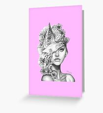 Fleeting greeting cards redbubble fleeting thoughts pink greeting card m4hsunfo