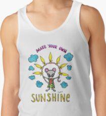 Machen Sie Ihren eigenen Sonnenschein - niedliche wunderliche Mäuseaquarell-Illustration Tank Top