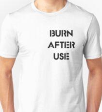 Burn After Use T-Shirt