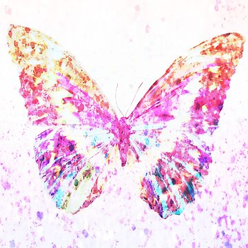 Beautiful dry painted pink butterfly by mad-monkey
