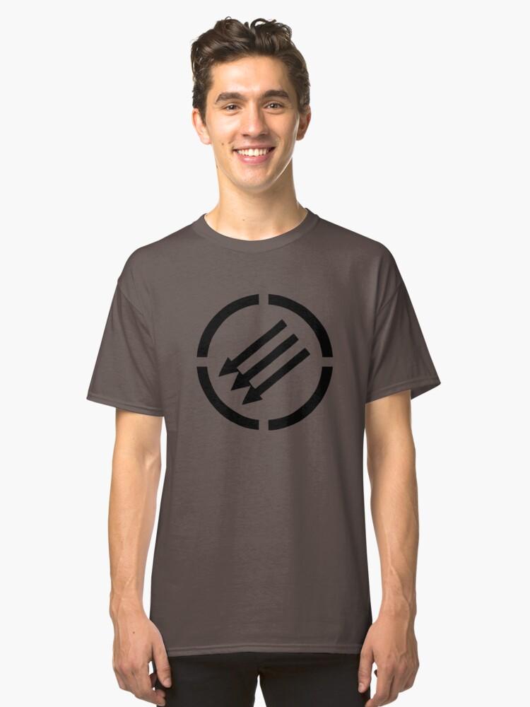 Antifascist arrows Classic T-Shirt Front