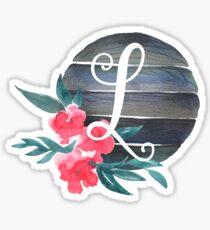 Floral Monogram L Sticker